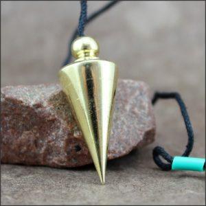 Pendule conique métal doré