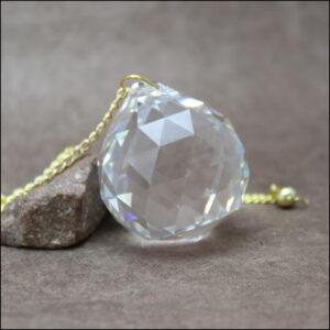 Pendule de radiesthésie en cristal