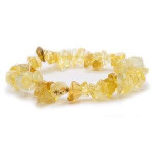 Bracelet chips de citrine