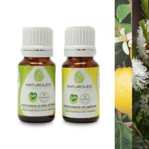 Duo huiles essentielles citron et tea tree