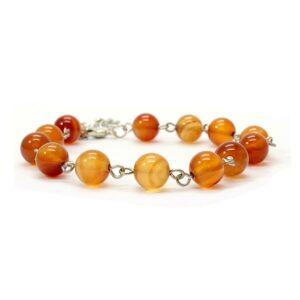 Bracelet perles de cornaline