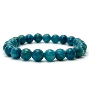 Bracelet d'apatite bleue
