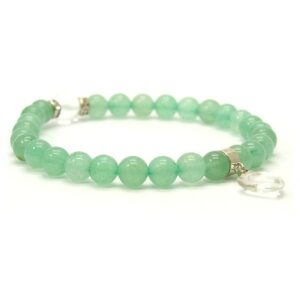 Bracelet aventurine verte coeur de quartz