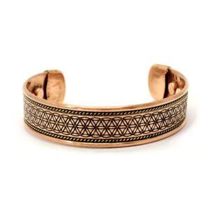 Bracelet cuivre fleur de vie