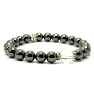 Bracelet hématite quartz